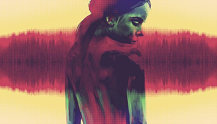 Une adolescente de dos