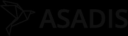 Le logo d'Asadis, un oiseau en origami